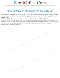 to write a letter to invite chief guest
