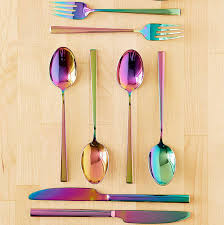 cool flatware electroplated flatware set so that s cool