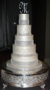 wedding cakes with bling 10 4 tier white square wedding cakes with bling photo 4 tier