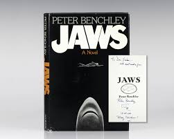 Peter Benchely - jaws peter benchley first edition signed