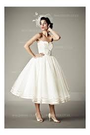 tea length wedding dresses uk vintage strapless lace tea length wedding dress