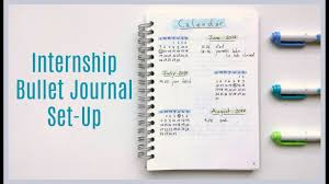 internship bullet journal set up minimalist bullet journal