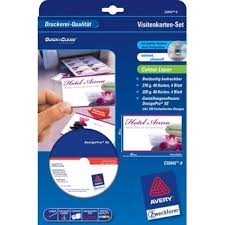 zweckform design pro avery zweckform c32042 8 laserdrucker visitenkarten set inkl