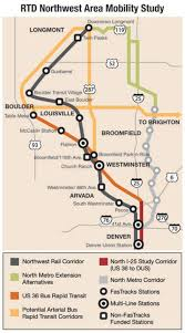 rtd rail map rtd study suggests northwest rail will get done sooner than