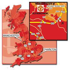 Utd Map Manchester United Map Graphic Design Photorealistic Cgi