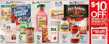 10 40 of select grocery items at target the coupon challenge