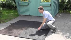 Patio Deck Tiles Rubber by Rubber Patio Tiles Youtube
