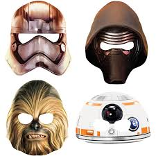 spirit halloween chewbacca star wars party masks 8 count walmart com