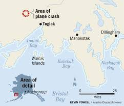Alaska Air Map by Mountainside Plane Crash Site Near Togiak Is A Challenge For