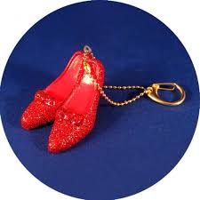 wizard of oz dorothy s ruby slippers shoes keychain
