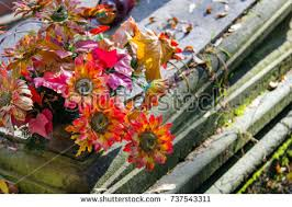 cemetery decorations cemetery flowers funeral grave wreath stock images royalty free
