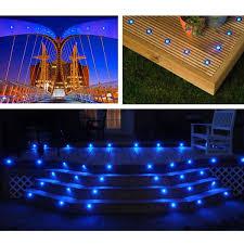 Recessed Deck Lighting 5 Pack 12v Round Recessed Deck Step Light Blue The Diy Outlet