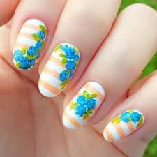 nail design center bright blue nail galaxy one1lady nail nails