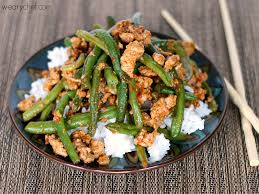 favorite green beans with ground turkey the weary chef