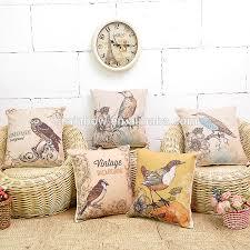 Wholesale Decorative Pillows Custom Made Diy Oem Print Designs Wholesale Cushion Cover Bird