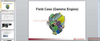 kia ed engine field case gamma engine service training auto
