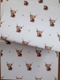 cow wrapping paper highland cow wrapping paper gift wrap for cow for