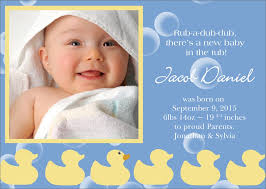 birth announcement rubber ducky birth announcement birth by cardsdirect