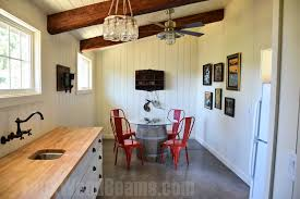 open floor plan designs with beams faux wood workshop