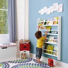 kids bookcase design white elegant stained wooden tree bookcase