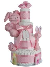 some bunny loves me pink 4 tier diaper cake baby shower diaper