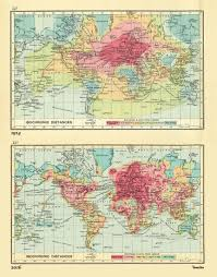 Heat Maps Heat Map Shows How The World Has Shrunk For Travellers 1914 V