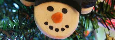 salt dough mickey snowman ornaments