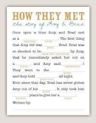 Wedding Mad Lib Template 41 Best Images About Bridal Shower Ideas On Pinterest Glued