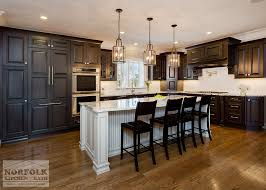 wood kitchen cabinets with white island greywash cherry custom kitchen with white island