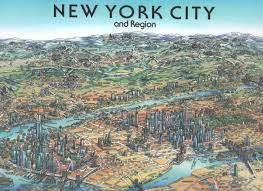 New York Maps by New York City Wall Map By Unique Media Zoom