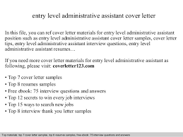 executive assistant cover letters cover letter samples
