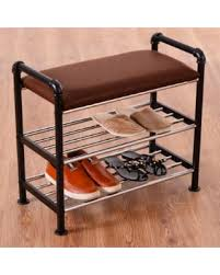 Shoe Storage With Seat Or Bench - save your pennies deals on costway metal grey shoe rack storage