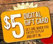 cracker barrel gift card free 5 cracker barrel gift card grocery coupon