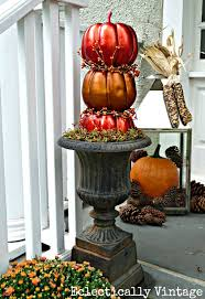 pumpkin topiary fall porch diy pumpkin topiaries elko