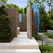 Outdoor Showers Fixtures - alluring wood planks shower ing system also minimalist style