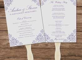 wedding fan program template diy wedding fans unique lavender vintage wedding program fan