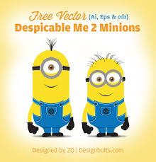 yellow minions vector characters vector free download