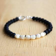 sterling silver charm bead bracelet images Men 39 s shell and lava stone beaded bracelet jpg