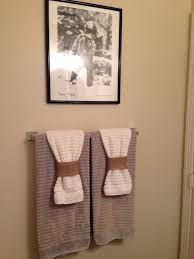 Bathroom Towel Folding Ideas Bathroom Towels Nice Way Of Adding Detail On The Towel Without