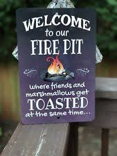 Firepit Signs Outdoor Metal Signs Ebay