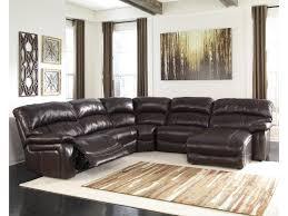 Ashley Raf Sofa Sectional Signature Design By Ashley Damacio Dark Brown Reclining