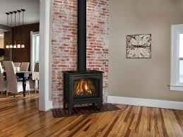 Convert Gas Fireplace To Wood by The Birchwood Free Standing Gas Fireplace Provides The Detailing