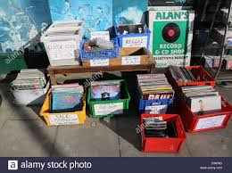 fashioned photo albums fashioned record shop albums for sale discs stock photo