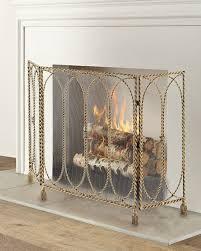 swag tassel fireplace screen