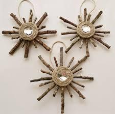 rustic snowflake ornaments set of 3 primitive decorations