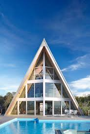 Pictures Of A Frame Houses by Home Design Incredible Triangle Shaped A Frame Rethink House