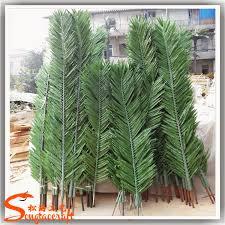 durable outdoor fiberglass palm trees plastic palm tree dubai for
