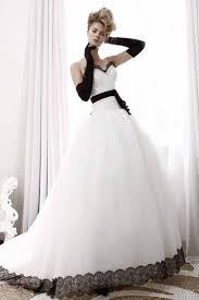 black and white wedding dress lstore