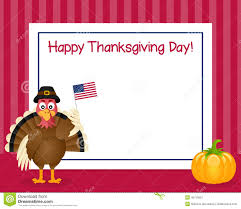 thanksgiving day turkey horizontal frame stock vector image