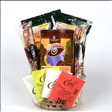 cheap gift basket gourmet organic coffee chocolate and teas